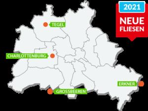 Badausstellungen & Fliesenausstellung in Berlin & Brandenburg. Musterbäder in Erkner, Grossbeeren, Tegel & Charlottenburg besichtigen.