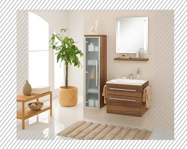 Den passenden Waschbeckenunterschrank finden Sie in einer unserer Bäderausstellungen in Berlin und Brandenburg.